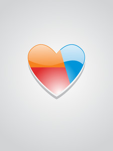 Vector Romantic Heart Wallpaper