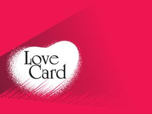 Vector Romantic Love Card