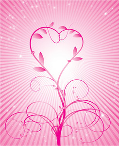 Vector Rose Valentine's Heart