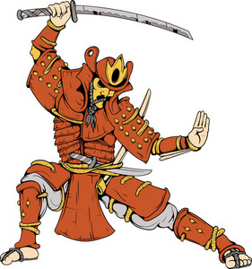 Vector Samurai Warrior