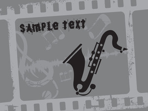Vector Saxophone Illustration
