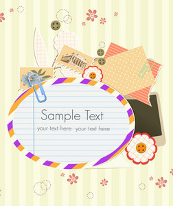 Vector Scrapbook Elements With Frame