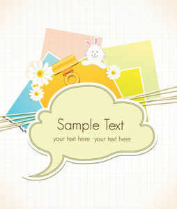 Vector Scrapbook Elements With Speech Bubble