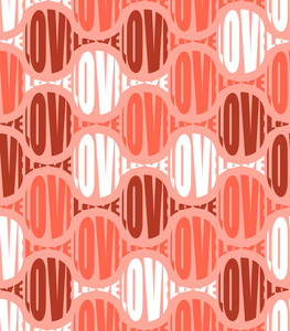 Vector Seamless Love Pattern