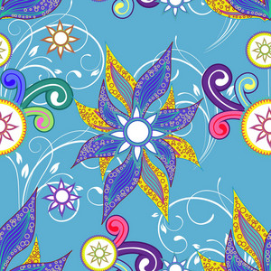 Vector Seamless Pattern With Floral
