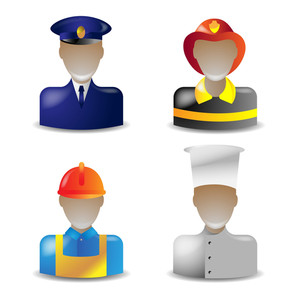 Vector Set 1 Of Glass Icons Occupations