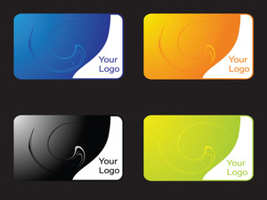 Vector Set Of Business Stickers