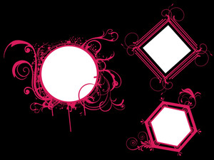 Vector Set Of Different Shapes Frames