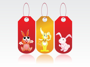 Vector Set Of Easter Tag