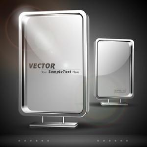 Vector Set Of Glass Billboard