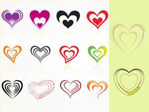 Vector Set Of Heart