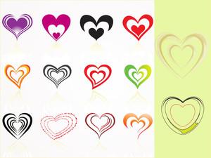 Vector Set Of Heart