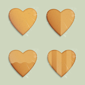 Vector Set Of Hearts Shapes Cookies