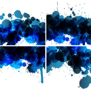 Vector Set Of Ink Blots Backgrounds