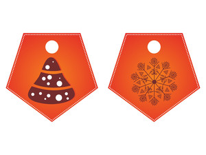 Vector Set Of Merry Xmas Tag