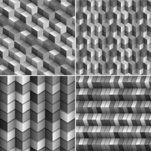 Vector Set Of Monochrome  Blocks Backgrounds