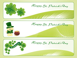 Vector Set Of Patrick Day Banner