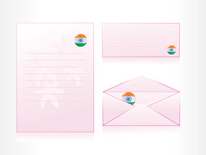 Vector Set Of Postal Card