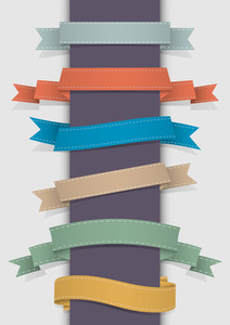 Vector Set Of Retro Ribbons