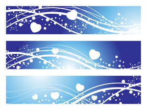 Vector Set Of Romantic Header