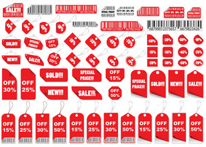 Vector Set of Shopping Tags et Stickers
