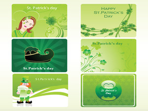 Vector Set Of Six Different Elegance Card