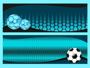 Vector Set Of Two Soccer Sport Header