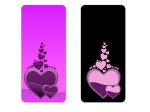 Vector Set Of Valentine Banner