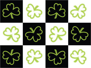 Vector Shamrock Flower Illustration Backdrop 17 March