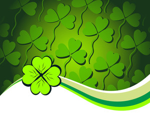 Vector Shamrock Pattern Background