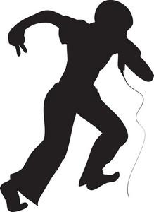 Vector Singer Silhouette