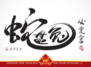 Vector Snake Calligraphy