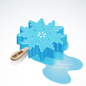 Vector Snow Flake Ice Candy