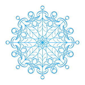 Vector Snowflake Element