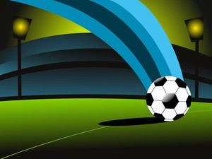 Vector Soccer Match Stadium Background
