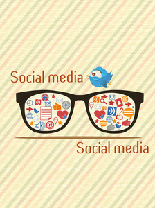 Vector Social Media Illustration