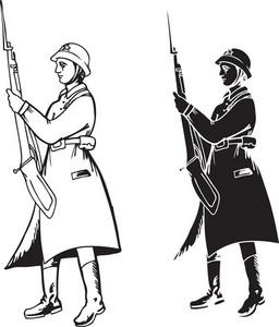 Vector Soviet Soldiers