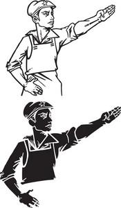Vector Soviet Workers