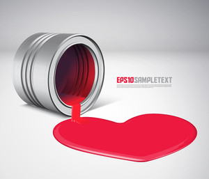 Vector Spilled Paint - Love