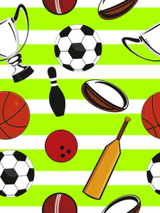 Vector Sports Equipment Pattern Background