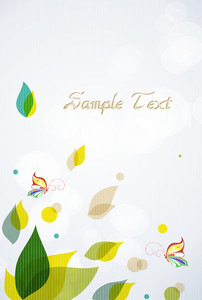 Vector Spring Background With Butterflies
