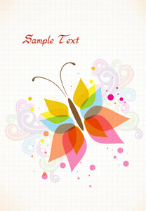 Vector Spring Background With Butterfly