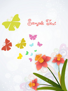 Vector Spring Background With Floral