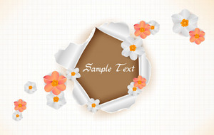 Vector Spring Background With Paper