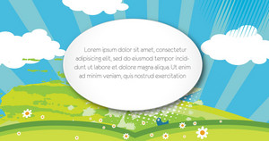 Vector Spring Background With Space For Text