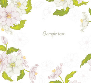 Vector Spring Colorful Floral Background