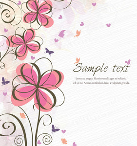 Vector Spring Floral Background