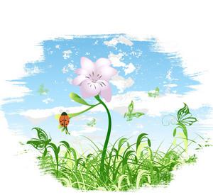 Vector Spring Floral Background