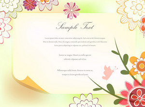 Vector Spring Floral Invitation