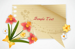 Vector Spring Frame With Flowers